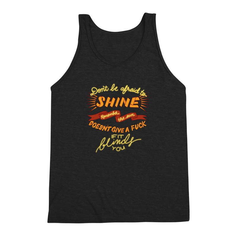 Shine Men's Triblend Tank by The Art of Rosemary