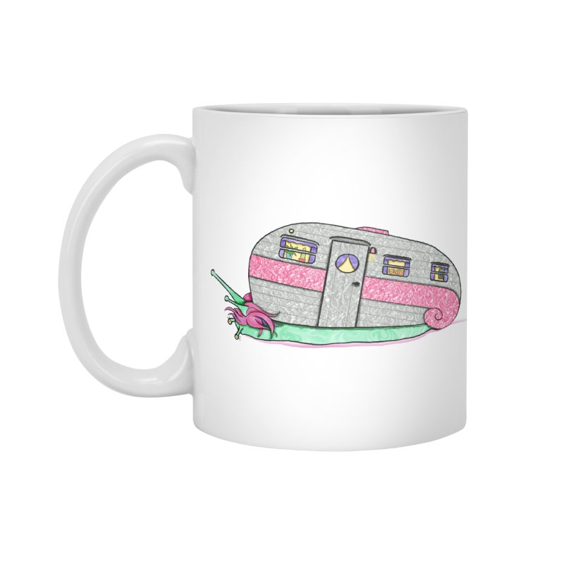 Trailer Snail Accessories Mug by The Art of Rosemary
