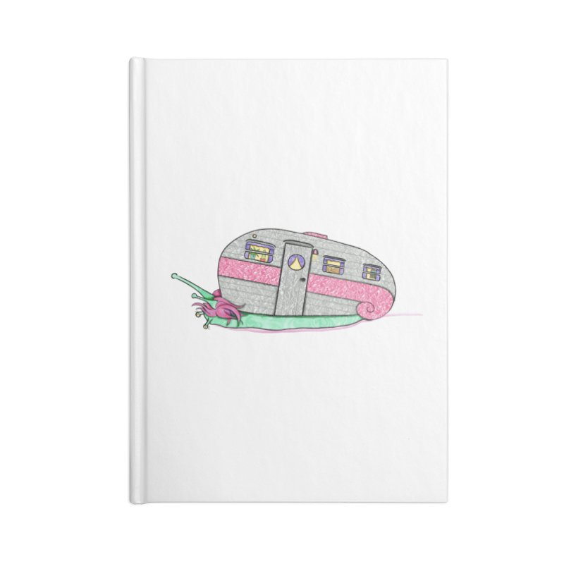Trailer Snail Accessories Lined Journal Notebook by The Art of Rosemary