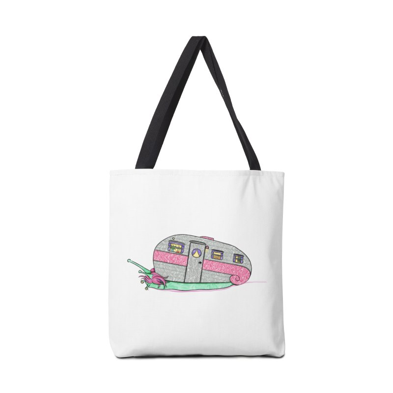 Trailer Snail Accessories Tote Bag Bag by The Art of Rosemary