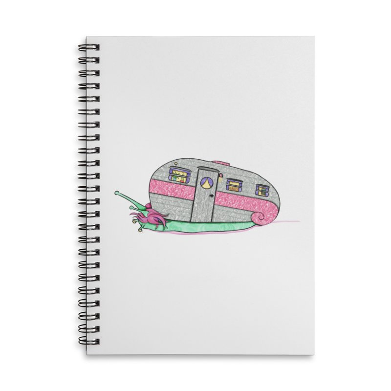 Trailer Snail Accessories Lined Spiral Notebook by The Art of Rosemary