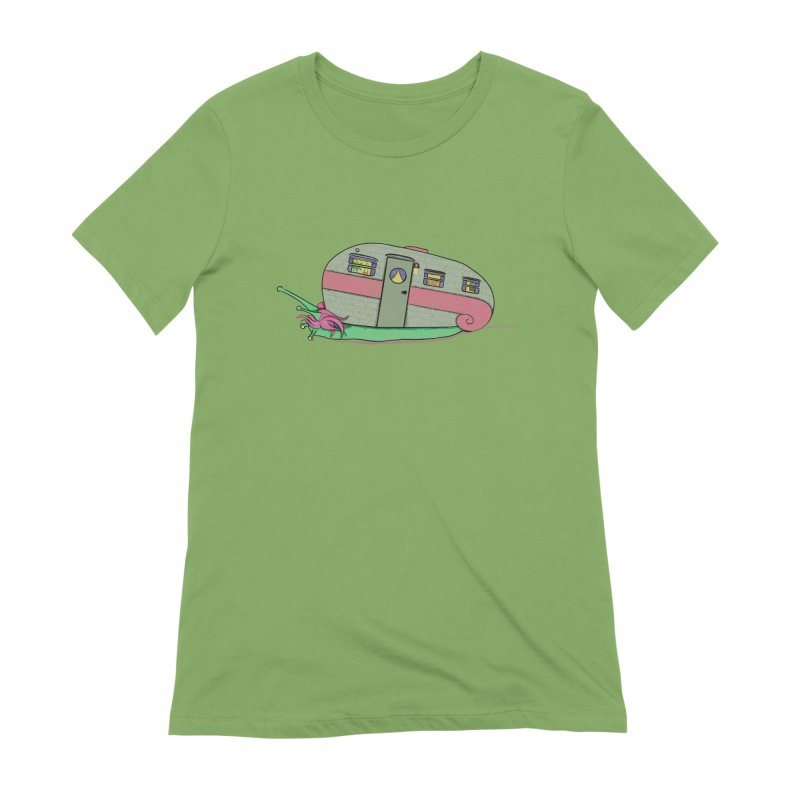 Trailer Snail Women's Extra Soft T-Shirt by The Art of Rosemary