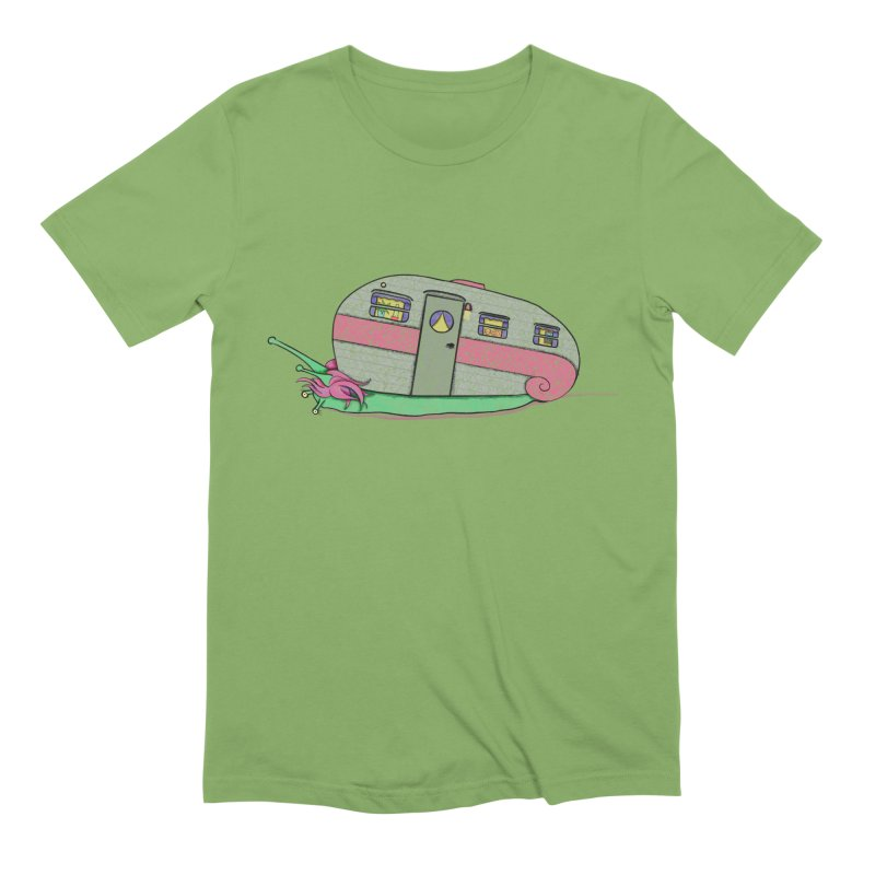 Trailer Snail Men's Extra Soft T-Shirt by The Art of Rosemary