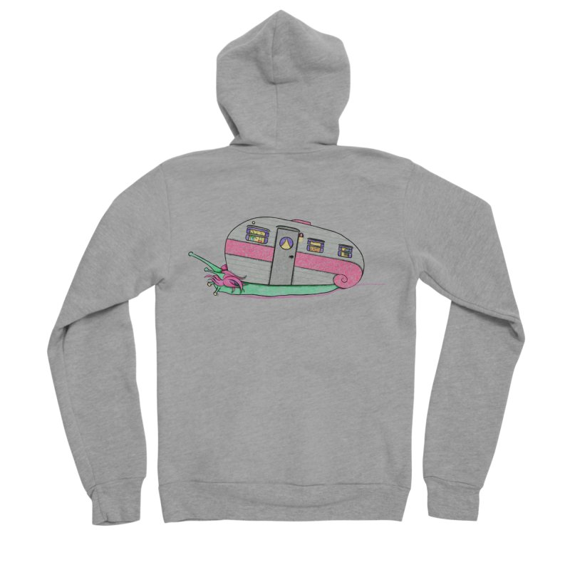 Trailer Snail Men's Sponge Fleece Zip-Up Hoody by The Art of Rosemary