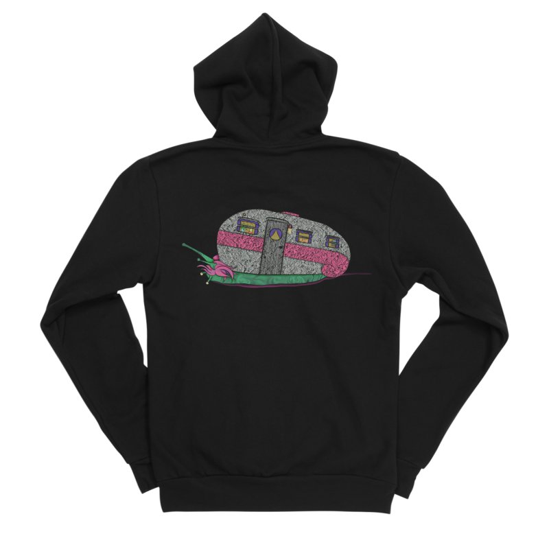 Trailer Snail Women's Sponge Fleece Zip-Up Hoody by The Art of Rosemary