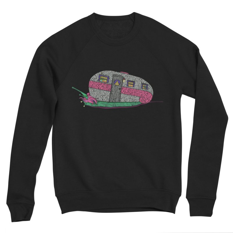 Trailer Snail Men's Sponge Fleece Sweatshirt by The Art of Rosemary