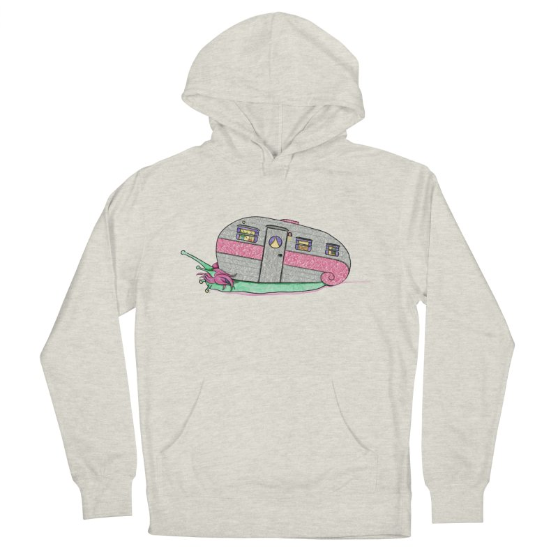 Trailer Snail Women's French Terry Pullover Hoody by The Art of Rosemary