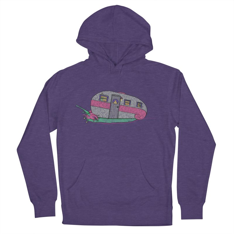 Trailer Snail Men's French Terry Pullover Hoody by The Art of Rosemary