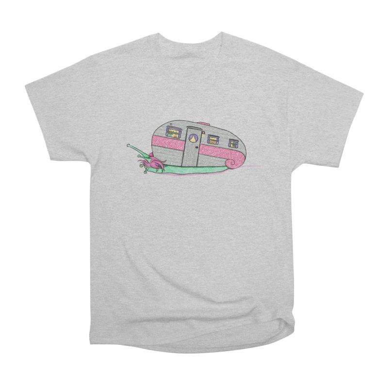 Trailer Snail Men's Heavyweight T-Shirt by The Art of Rosemary