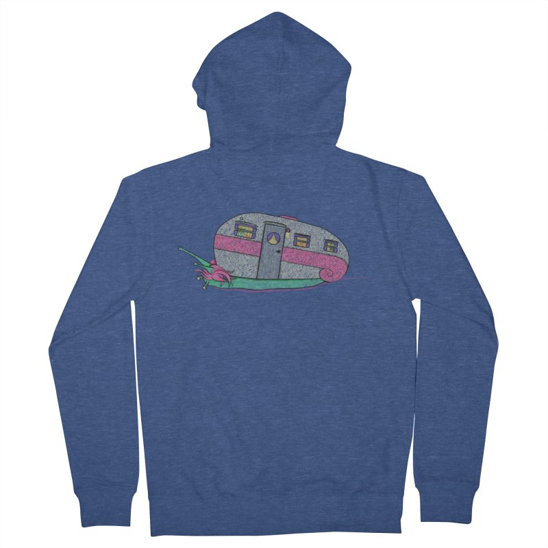 Trailer Snail Men's French Terry Zip-Up Hoody by The Art of Rosemary