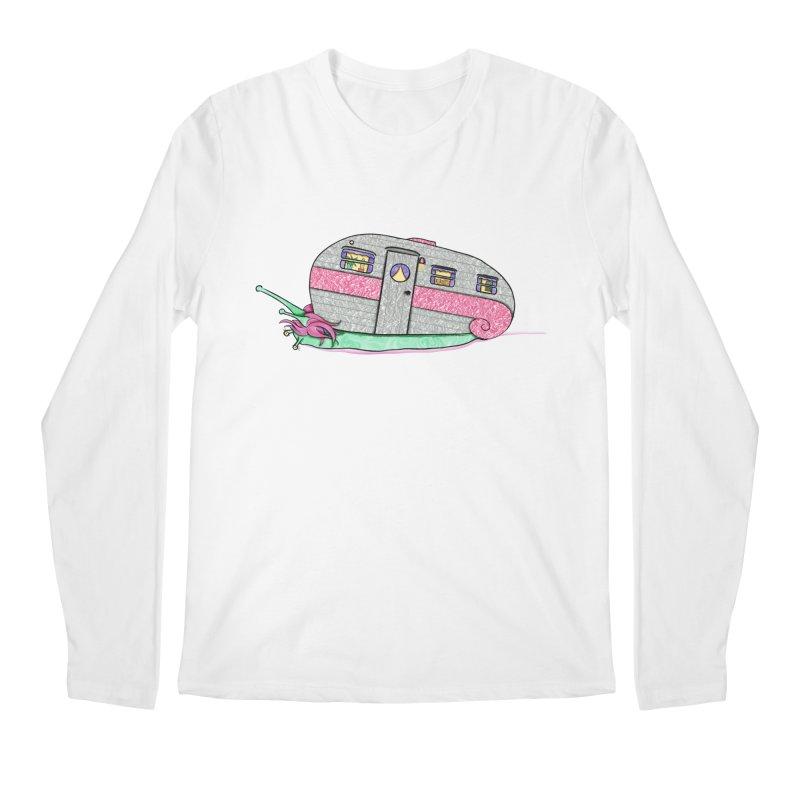 Trailer Snail Men's Regular Longsleeve T-Shirt by The Art of Rosemary