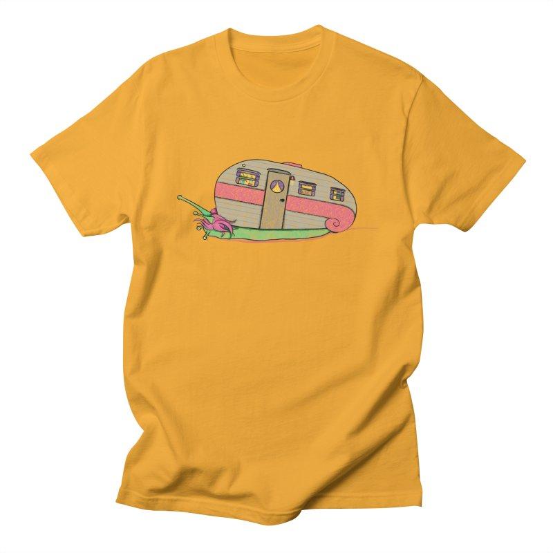 Trailer Snail Men's Regular T-Shirt by The Art of Rosemary