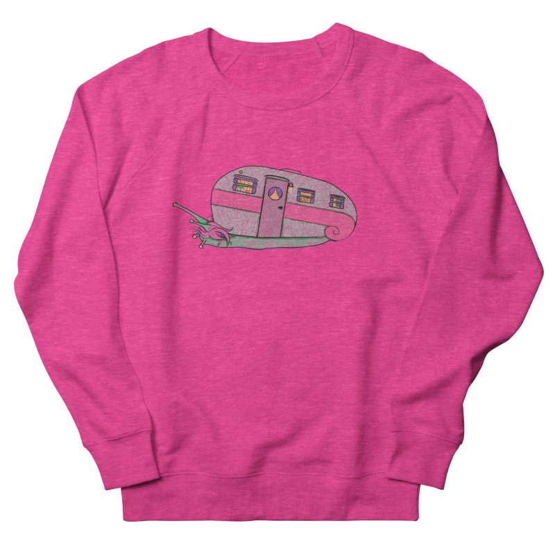 Trailer Snail Women's French Terry Sweatshirt by The Art of Rosemary