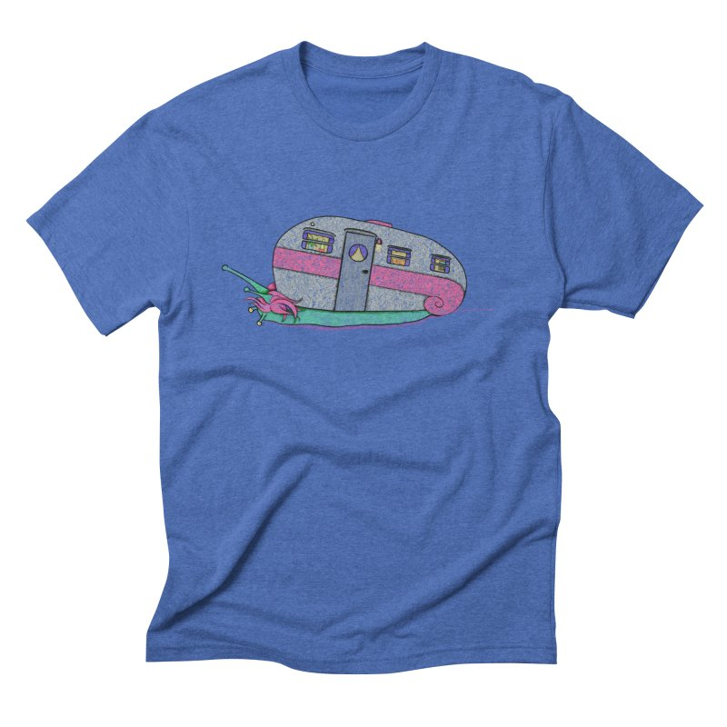 Trailer Snail Men's Triblend T-Shirt by The Art of Rosemary