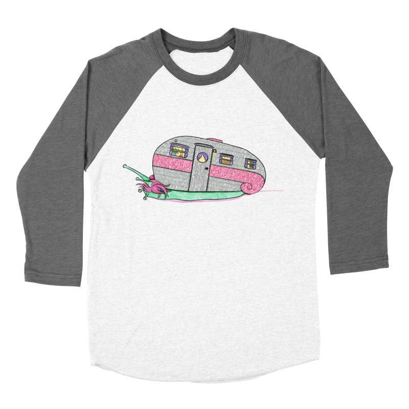 Trailer Snail Women's Baseball Triblend Longsleeve T-Shirt by The Art of Rosemary