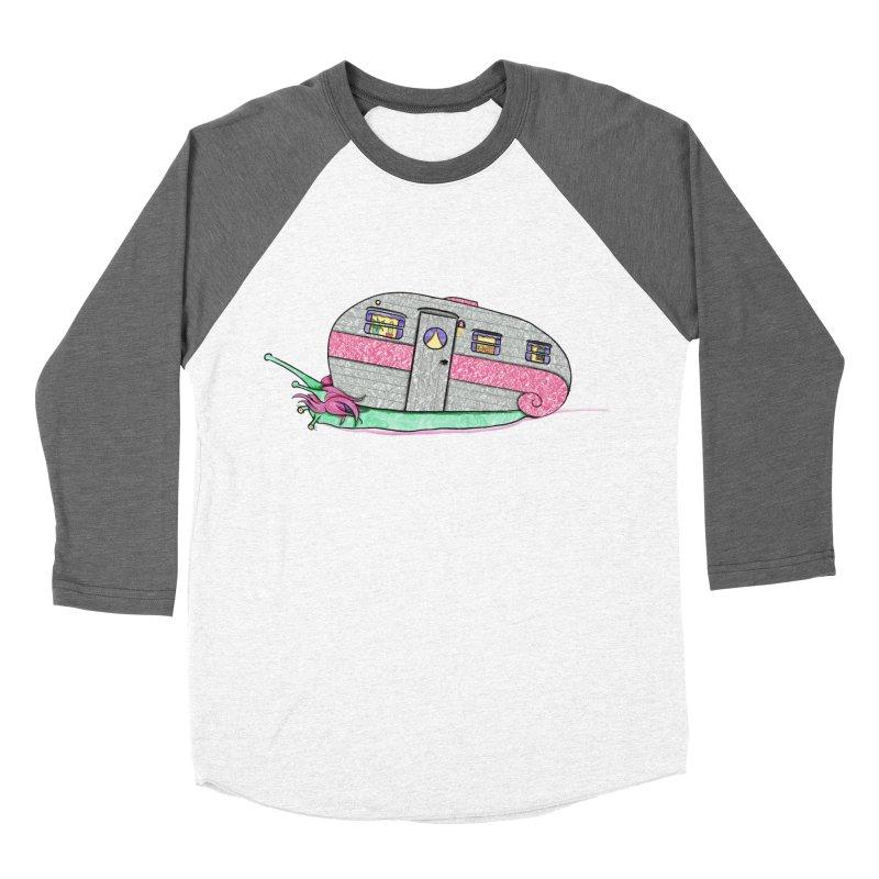 Trailer Snail Men's Baseball Triblend Longsleeve T-Shirt by The Art of Rosemary