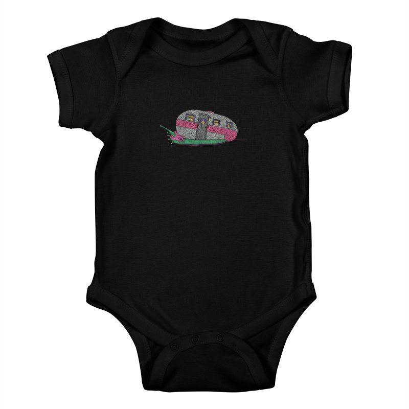 Trailer Snail Kids Baby Bodysuit by The Art of Rosemary