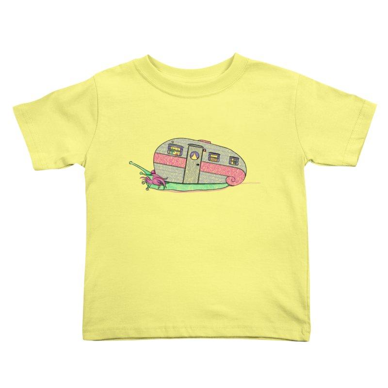 Trailer Snail Kids Toddler T-Shirt by The Art of Rosemary