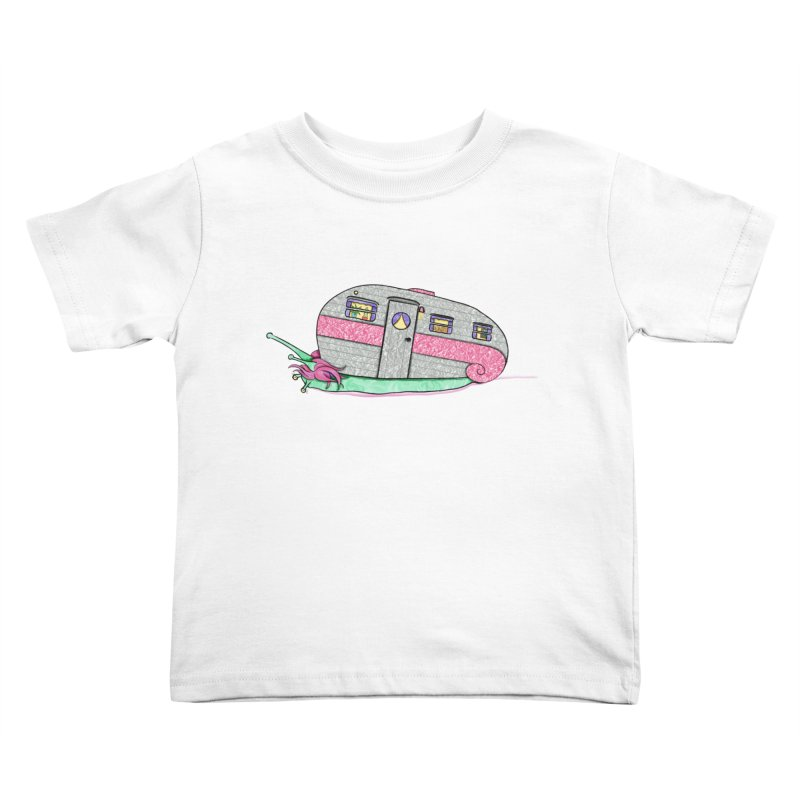 Trailer Snail Kids Toddler T-Shirt by The Art of Rosemary