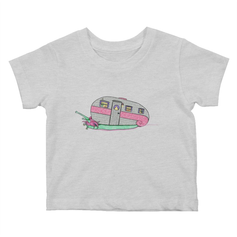 Trailer Snail Kids Baby T-Shirt by The Art of Rosemary