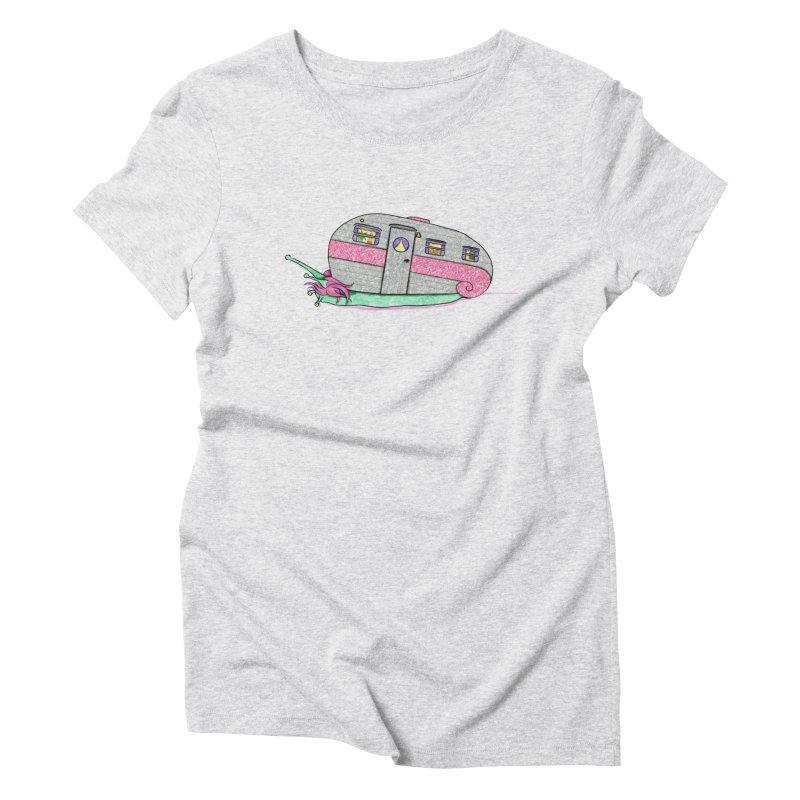Trailer Snail Women's T-Shirt by The Art of Rosemary