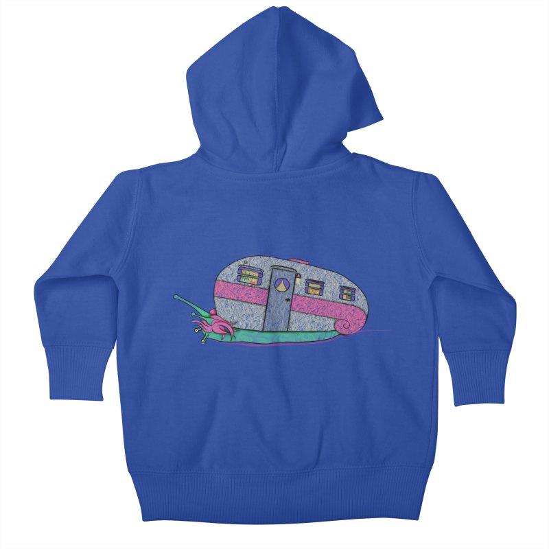 Trailer Snail Kids Baby Zip-Up Hoody by The Art of Rosemary