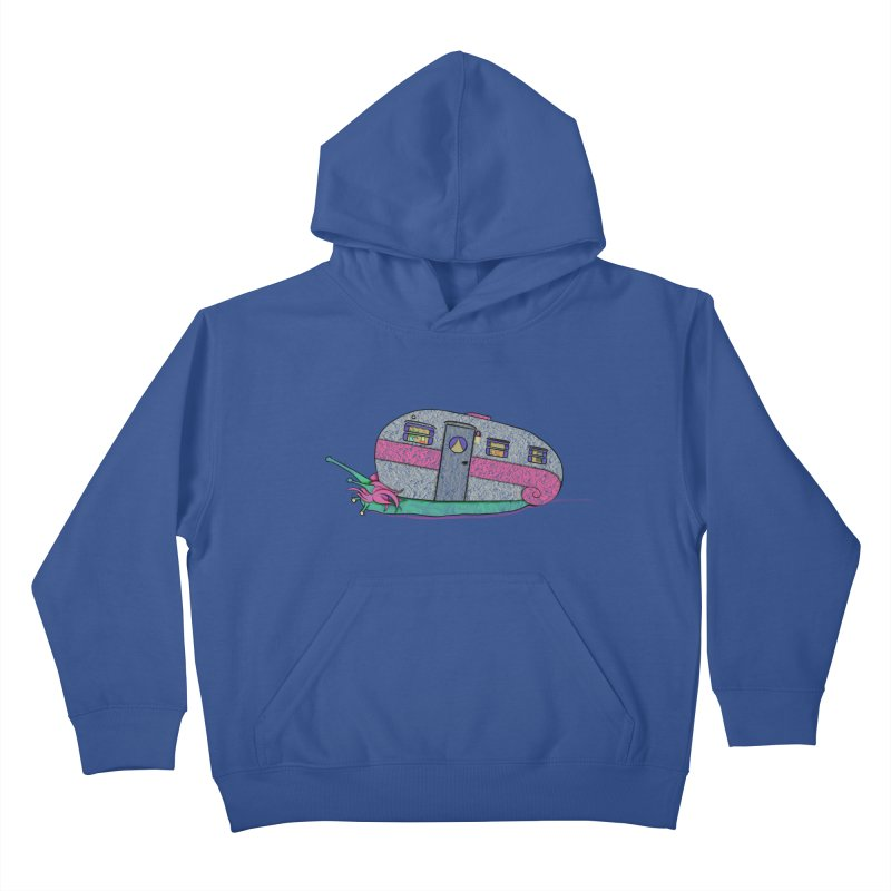 Trailer Snail Kids Pullover Hoody by The Art of Rosemary