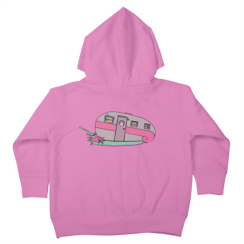 Trailer Snail Kids Toddler Zip-Up Hoody by The Art of Rosemary