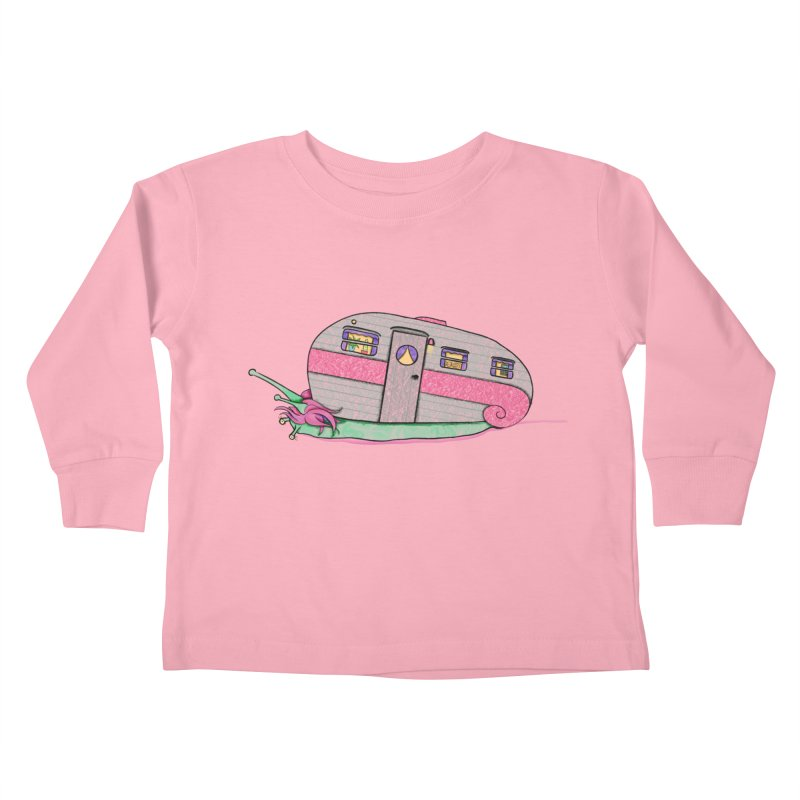 Trailer Snail Kids Toddler Longsleeve T-Shirt by The Art of Rosemary