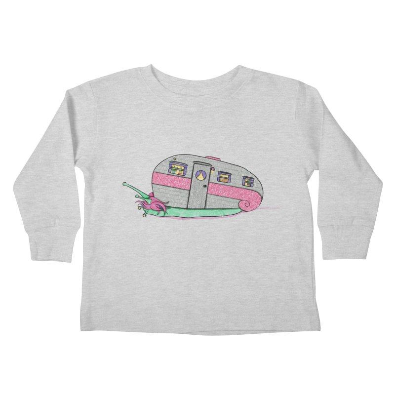 Trailer Snail Kids Toddler Longsleeve T-Shirt by The Art of Rosemary
