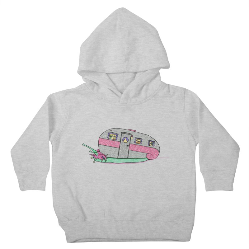 Trailer Snail Kids Toddler Pullover Hoody by The Art of Rosemary