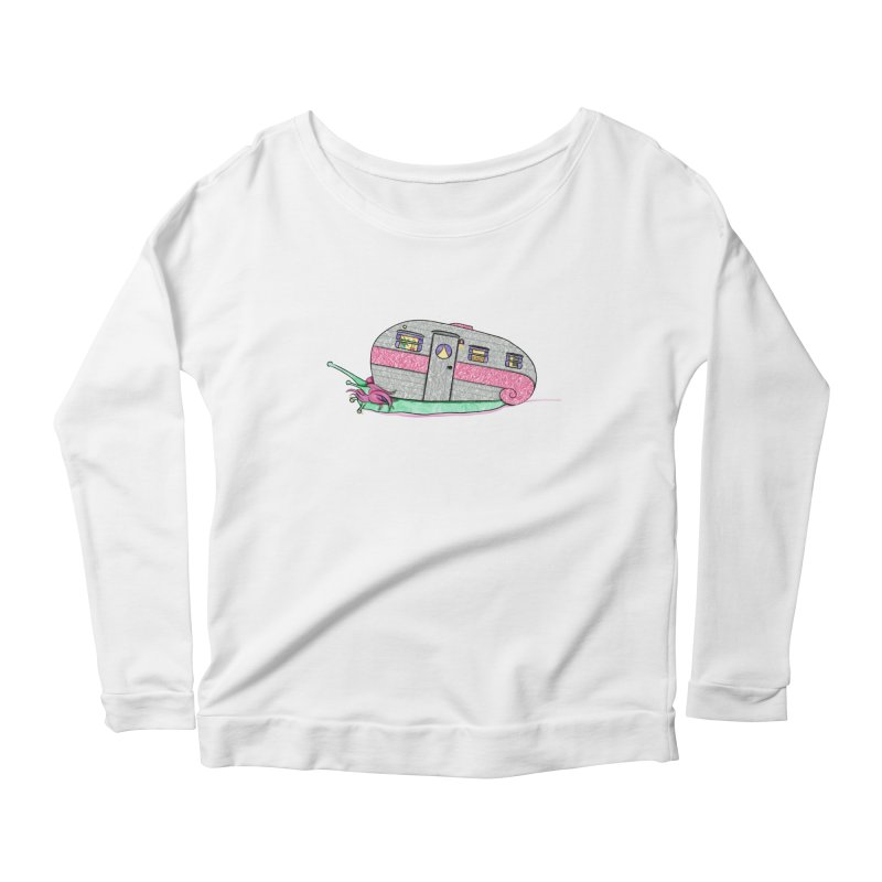 Trailer Snail Women's Scoop Neck Longsleeve T-Shirt by The Art of Rosemary