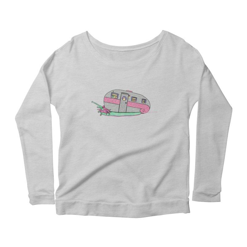 Trailer Snail Women's Scoop Neck Longsleeve T-Shirt by The Art of Rosemary