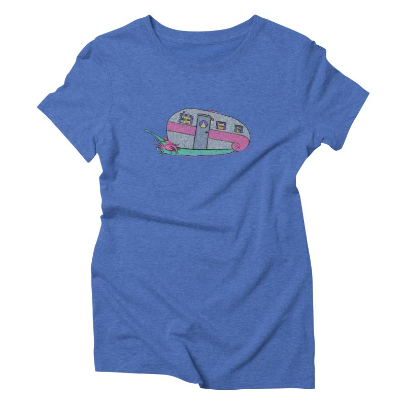 Trailer Snail Women's Triblend T-Shirt by The Art of Rosemary