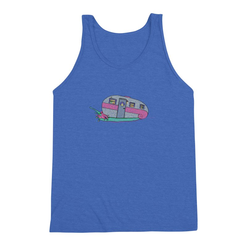 Trailer Snail Men's Triblend Tank by The Art of Rosemary