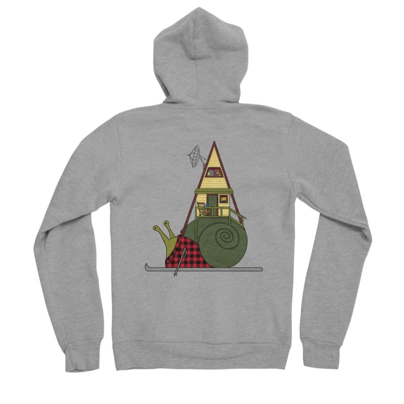 A-Frame Snail Men's Sponge Fleece Zip-Up Hoody by The Art of Rosemary