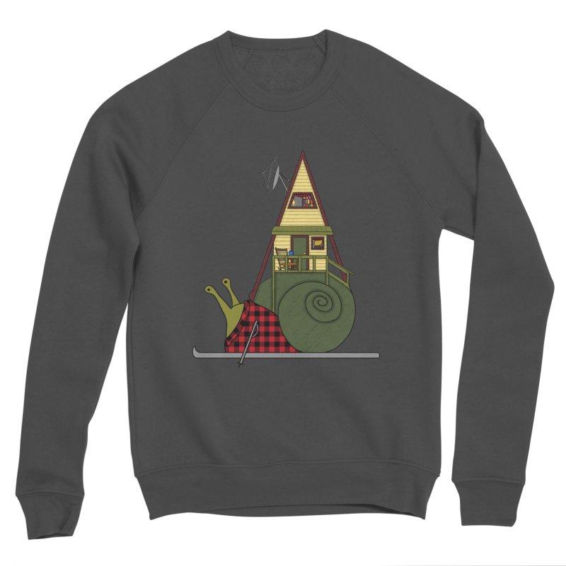 A-Frame Snail Men's Sponge Fleece Sweatshirt by The Art of Rosemary
