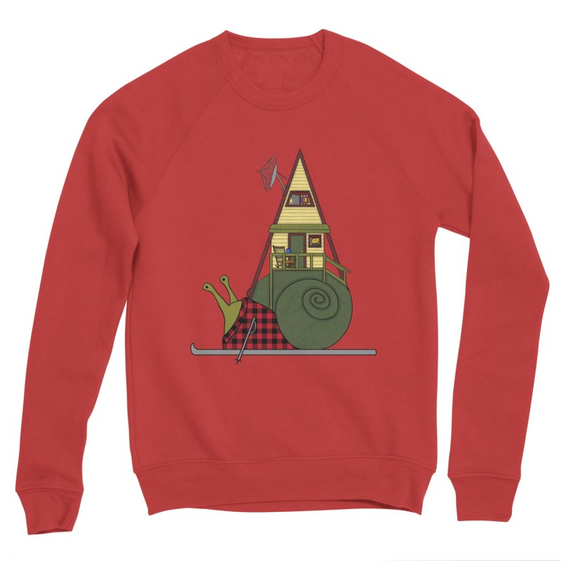 A-Frame Snail Men's Sponge Fleece Sweatshirt by The Art of Rosemary
