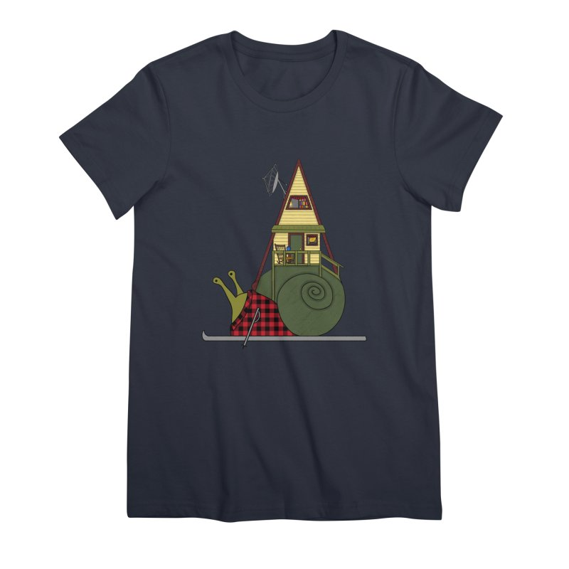 A-Frame Snail Women's Premium T-Shirt by The Art of Rosemary