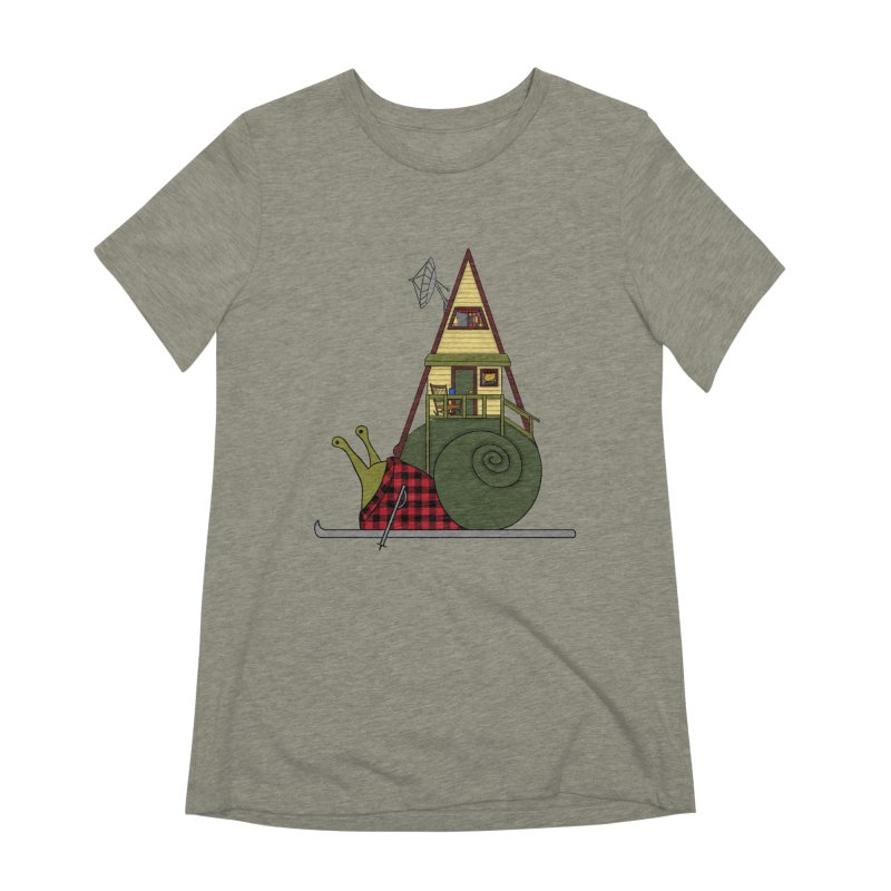 A-Frame Snail Women's Extra Soft T-Shirt by The Art of Rosemary