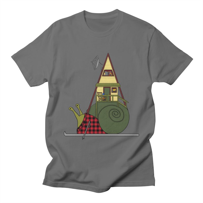 A-Frame Snail Men's T-Shirt by The Art of Rosemary