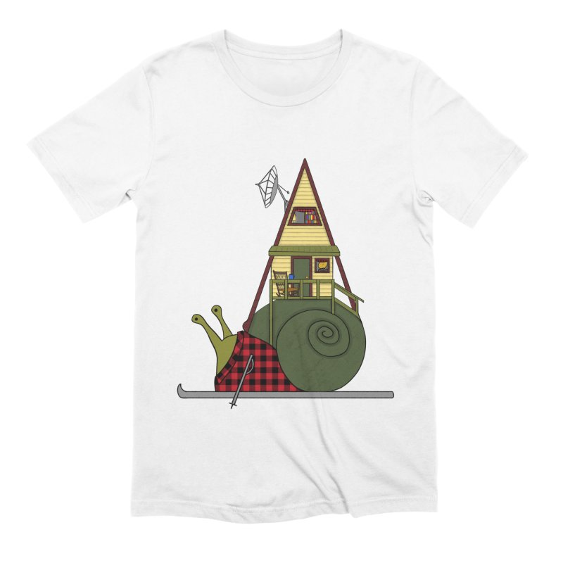 A-Frame Snail Men's Extra Soft T-Shirt by The Art of Rosemary