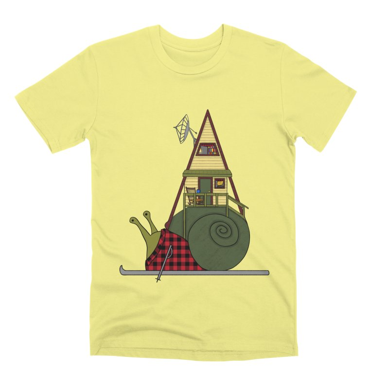 A-Frame Snail Men's Premium T-Shirt by The Art of Rosemary