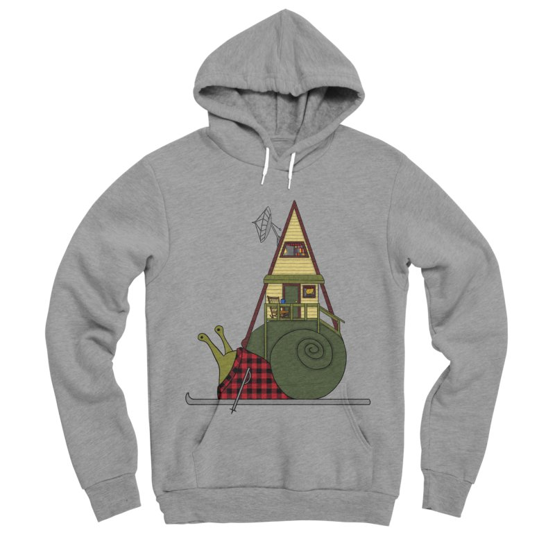 A-Frame Snail Women's Sponge Fleece Pullover Hoody by The Art of Rosemary