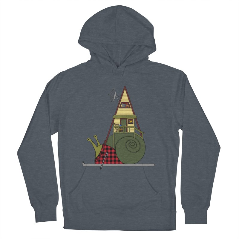 A-Frame Snail Women's French Terry Pullover Hoody by The Art of Rosemary