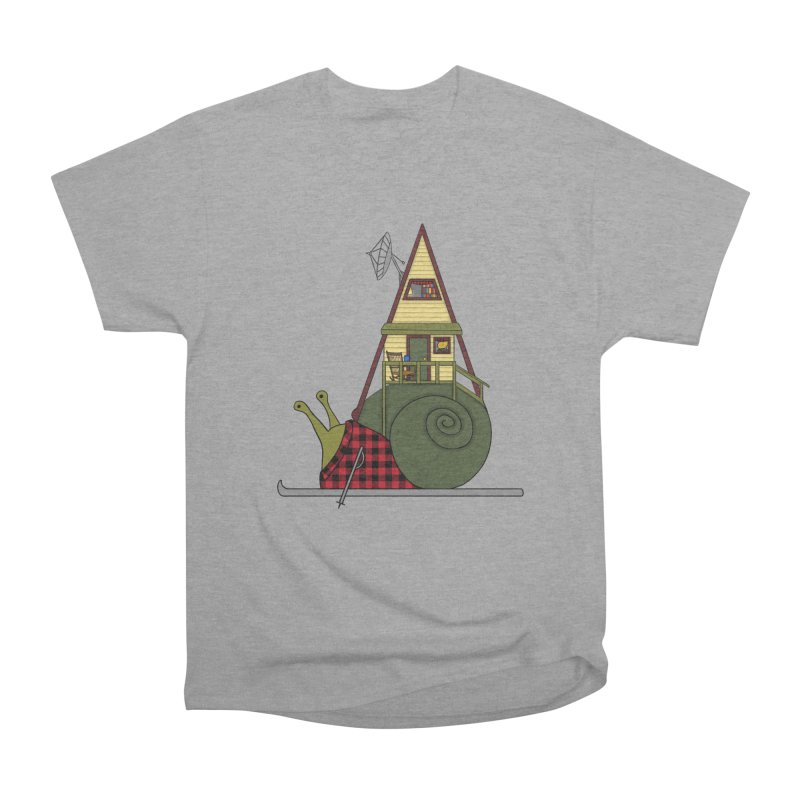 A-Frame Snail Women's Heavyweight Unisex T-Shirt by The Art of Rosemary