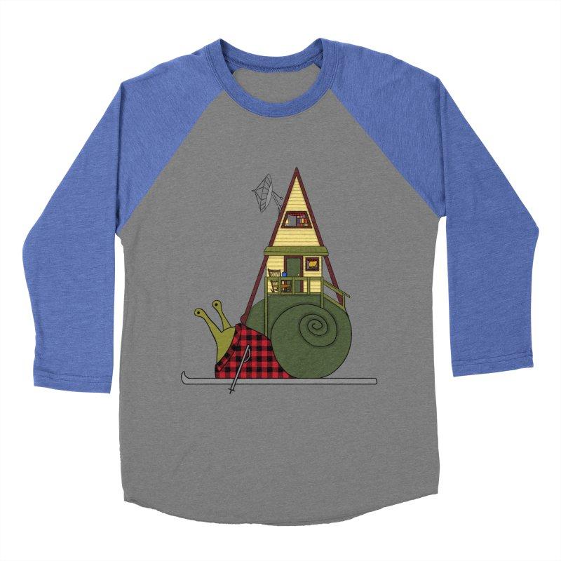 A-Frame Snail Men's Baseball Triblend Longsleeve T-Shirt by The Art of Rosemary
