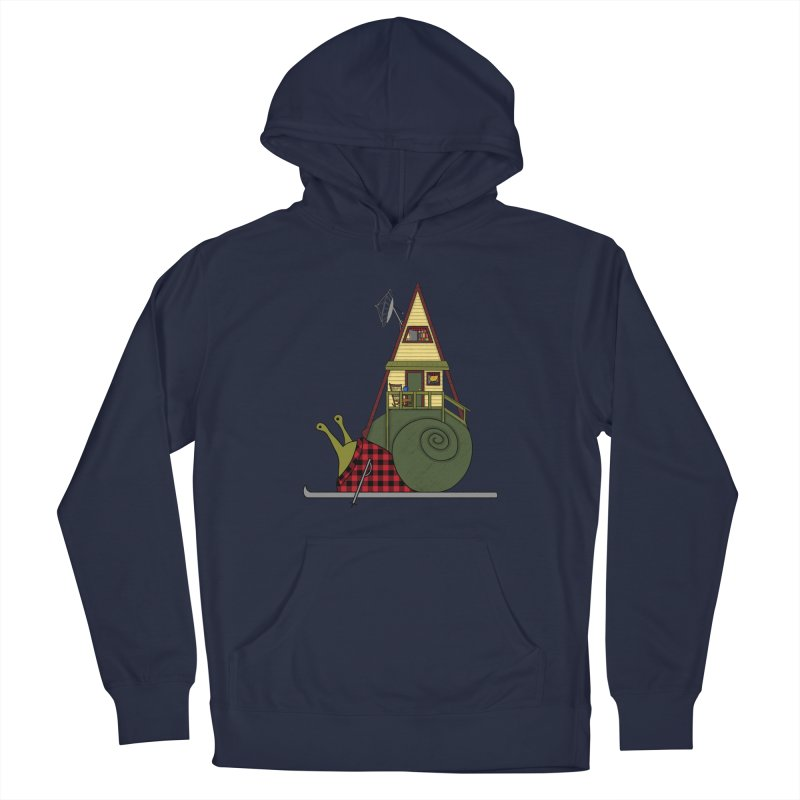 A-Frame Snail Men's Pullover Hoody by The Art of Rosemary