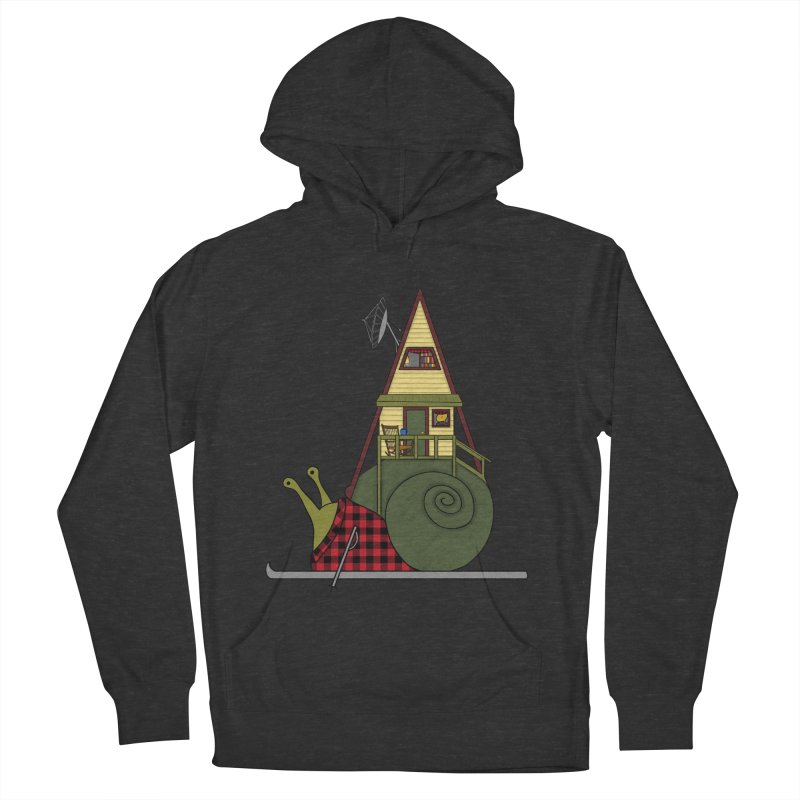 A-Frame Snail Men's French Terry Pullover Hoody by The Art of Rosemary