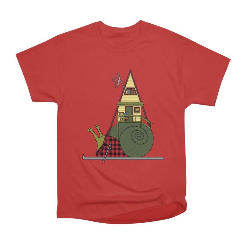 A-Frame Snail Men's Heavyweight T-Shirt by The Art of Rosemary